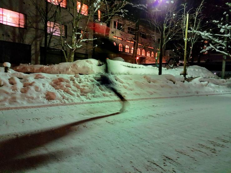 running on snow